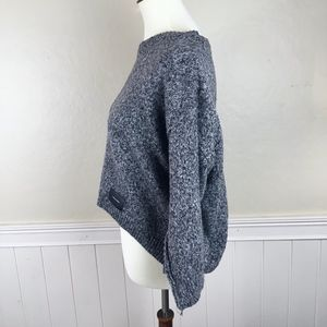 MACONF Gray Slouchy Crop Sweater Size Medium